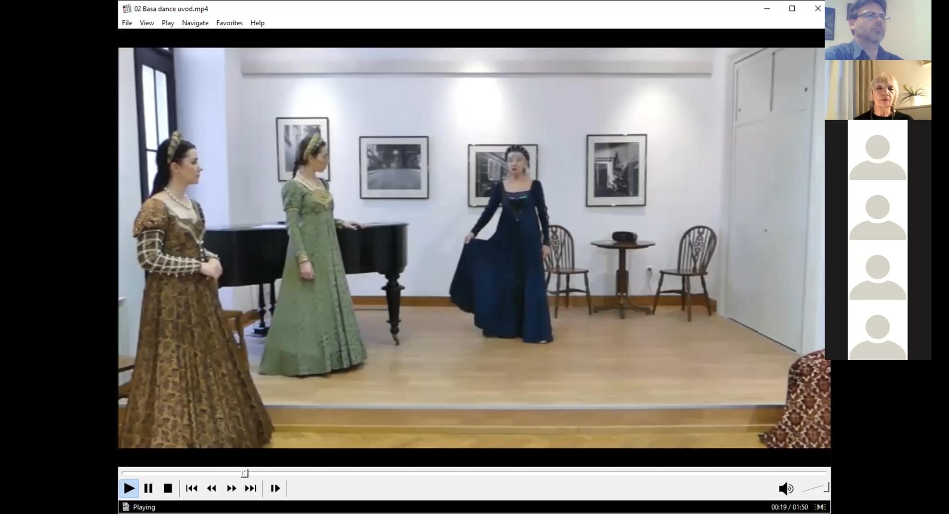 Održane treća i četvrta radionica dvorskih plesova iz ciklusa plesna umjetnost